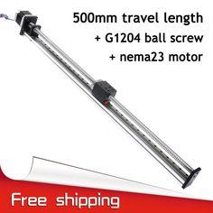 Envío libre 500mm stroke fuyu marca c7 impulsado tornillo de la bola carril de guía linear motion para impresora