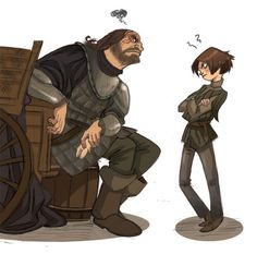 marasbazaar:  The Hound and Arya Stark, Game of Thrones...