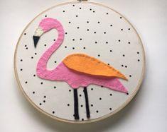 Embroidery Hoop Art Wall Art Nursery Room Decor Black by nolaandvi