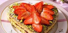 Cœur aux fraises et pistaches
