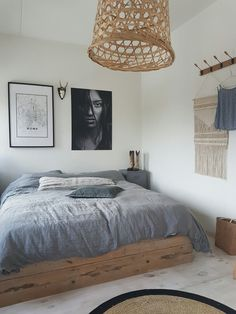 www.shopmariekerusticusstyling.nl                                                                                                                                                                                 More Tiny House Bedroom, Closet Bedroom, House Rooms, Master Bedroom, Home Bedroom, Dream Bedroom, Bedroom Decor, Bedrooms, Surfer Bedroom