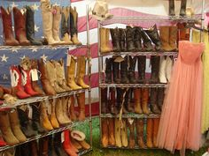 Carolyn Westbrook Home Warrenton,Texas Antique Show Antique Show, Antique Stores, Shoe Display, Display Ideas, Round Top Texas, Flea Market Style, Corral Boots, Gypsy Cowgirl, Shabby Chic Style
