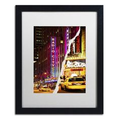 """Trademark Art Taxis Manhattan by Philippe Hugonnard Framed Photographic Print Size: 20"""" H x 16"""" W x 0.5"""" D"""