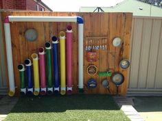 Instrumentos musicais reciclados.