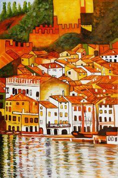 Malcesine on Lake Garda 1913 Oil Painting by Gustav Klimt