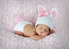 Easter ~ Bunny ~ Newborn Girl ~ Creative Images Photography ~ Meridian, Mississippi