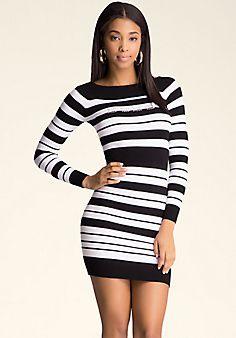 Boatneck Stripe Dress