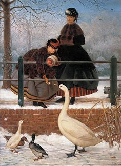 Frozen Out (1866) George Dunlop Leslie