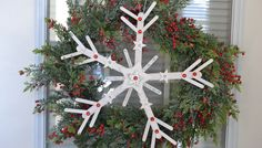 Popsicle Stick Snowflake Wreath