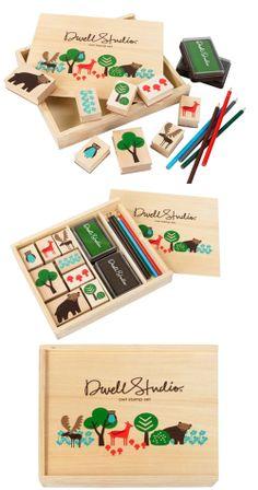 My Owl Barn: Dwell Studio: Gift Ideas for Kids Kids Packaging, Cute Packaging, Packaging Design, Modern Kids Toys, Homemade Kids Toys, Kids Toys For Christmas, Diy Toy Box, Kids Toy Boxes, Toys Logo