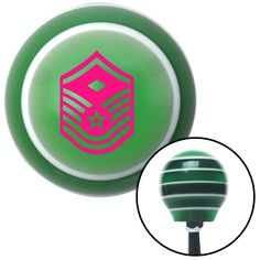 Pink Master Sergeant First Sergeant Green Stripe Shift Knob with M16 x 15 Insert - Give your interior the ultimate look. American Shifter's Elite(TM) series shift knobs are made from the highest quality components resulting in a superior feel on every shift. Each shift knob is designed and customized in the USA by skilled shift knob artisans who have a trained eye on every detail. American Shifters shift knobs offers an exclusive aluminum threaded insert designed to be screwed onto your…