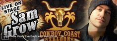 New Year's Eve Bash with Sam Grow at Cowboy Coast, learn more...  #oceancitycool #newyears2017