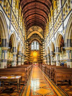 ˚St. Paul's Cathedral - Australia Architecture Old, Place Of Worship, Cathedral, Hilarious, Australia, Interiors, Culture, World, Places