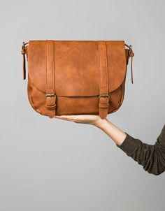 Basic messenger bag. Discover this and many more items in Bershka with new products every week