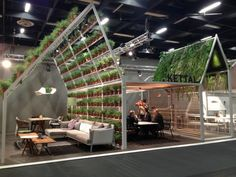 IMM Cologne - stand of outdoor furniture of the brand Kettal.