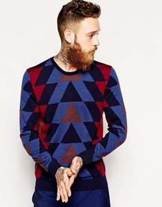 PS by Paul Smith Jumper with Geometric Pattern