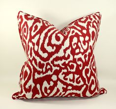 Animal Print Pillow Cover in Poppy Decorative by trendypillows, $50.00