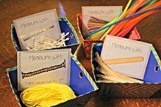 Math MeasuJungle classroom Original idea from Creative education for primaries .New Teachers Mastering Measurement! Measurement Kindergarten, Measurement Activities, Math Measurement, Preschool Math, Math Classroom, Kindergarten Math, Fun Math, Teaching Math, Math Activities