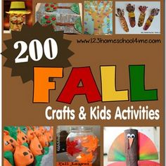 200 Fall Crafts, Kids Activities, Printables, and Snack Ideas
