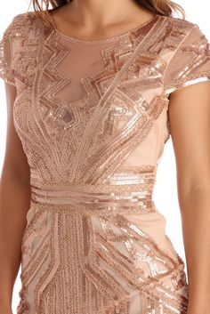 Daisy Natural Roaring Sequin Dress