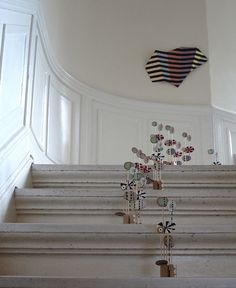 I am drawn to Danish artist Leise Dich Abrahamsens work - like this staircase full of fun...