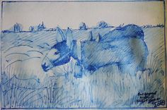 """""""Esel in BLAU"""" von Schuschnig"""