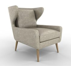 A dream of a wing back chair. Can't help it, it's best in grey!