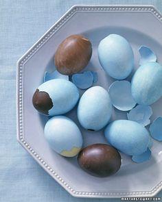 egg fylt med sjokolade