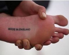 Made in usa tattoo bottom of foot