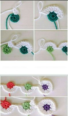 This looks like the beginning of a mile a minute strip maybe for a blanket – Artofit Crochet Lace Edging, Crochet Flower Patterns, Crochet Stitches Patterns, Crochet Flowers, Crochet Blocks, Crochet Squares, Crochet Granny, All Free Crochet, Diy Crochet