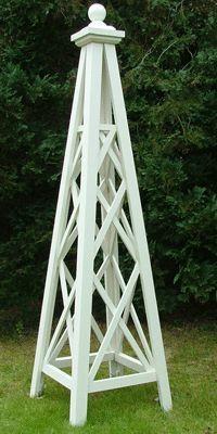 The-Gibbs-Wooden-Garden-Obelisk - Garten Kunst Obelisk Trellis, Diy Trellis, Garden Trellis, Garden Arbor, Lawn And Garden, 1 Gif, Wooden Garden, Garden Structures, Garden Projects