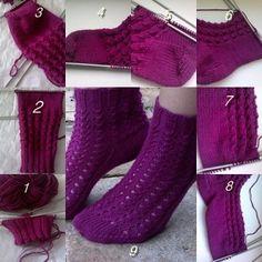 moj postup pleteni ponožiek High Socks, Knitting, Fashion, Thigh High Socks, Over The Calf Socks, Tricot, Fashion Styles, Stockings, Stricken