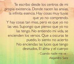 Alejandro Sanz I really love that song!