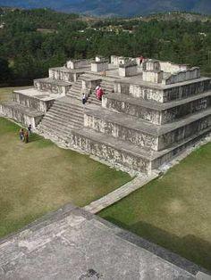 Mayan pyramid in archaeological site Zaculeu, Huehuetenango. (Guatemala)