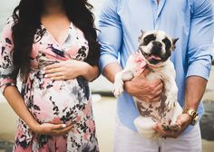 How stinking cute is this? #maternity #frenchie #pup #socal #photography #brandynmurrayphotography