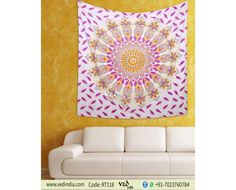 Beautiful Mandala bohemian throw tapestry in pink and yellow ombre screen print is just a click away. This best quality queen twin cotton bedspread throw can also be used as large wall tapestry, curtain, wall hanging, cushion cover and beach holiday to Decor, Bed Decor, Bohemian Floral, Window Decor, Tapestry, Bohemian Wall Hanging, Bohemian, Pink, Mandala Tapestry Bohemian