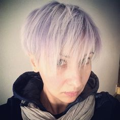 Gray haircolor  Pixie haircut