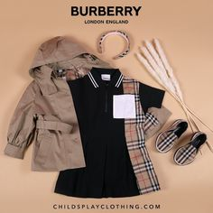 Cute Girl Outfits, Toddler Girl Outfits, Kids Outfits, Baby Girl Fashion, Kids Fashion, Gucci Baby Clothes, Luxury Kids Clothes, Burberry Outfit, Baby Dress Design