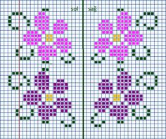Chabel Caler's media statistics and analytics Cross Stitch Borders, Cross Stitch Flowers, Cross Stitch Designs, Cross Stitching, Cross Stitch Patterns, Crochet Chart, Crochet Motif, Crochet Patterns, Bordado Tipo Chicken Scratch