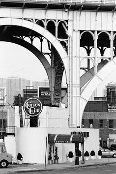 NYC. Harlem. Cotton Club at  W 125 St. by the Manhattanville Viaduct // by Dave Beckerman