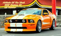 Custom Grabber Orange 2007 Supercharged Mustang GT coupe