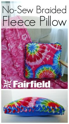 """Pieces by Polly: No-Sew """"Braided"""" Fleece Pillow"""