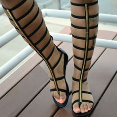Caged Strappy Gladiator Sandals