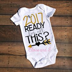 Bling in the New Year  New Years Shirt  2016 New Year Shirt  New     Ring in the New Year with our Is 2017 Ready For All This  bodysuit