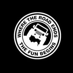 Jeep Road Ends Fun Begins Jeep Decal Stickers – Custom Sticker Shop Jeep Wrangler Stickers, Jeep Stickers, Jeep Decals, Jeep Wrangler Jk, Custom Stickers, Vinyl Decals, Jeep Scout, Jeep Wrangler Accessories, Jeep Accessories