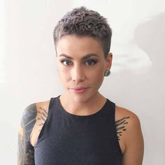 Best Hair Cuts For Women Shaved Pixie Haircuts 54 Ideas Short Hair Model, Short Hair Cuts, Short Hair Styles, Pixie Cuts, Pelo Formal, Shaved Hair Women, Super Short Hair, Corte Y Color, My Hairstyle