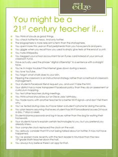 25 Signs You Might Be a 21st Century Teacher by Terrell Heick