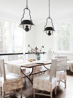 Breakfast Room:  Huntington White by Darryl Carter Colors by Benjamin Moore.  Vaughn fixtures.