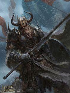 m Fighter Plate Armor Helm Cloak Greatsword battle eastern border patrol Legend of the Cryptids Nordic warrior lg Fantasy Warrior, Fantasy Male, High Fantasy, Fantasy Rpg, Dark Fantasy Art, Medieval Fantasy, Fantasy Artwork, Viking Warrior, Viking Art