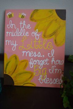 """Big Little Sorority Canvas """"In the middle of my Little mess, I forget how Big I'm blessed."""" Big Little Sorority Canvas In the middle of my Little mess, I forget how Big I'm blessed. Big Little Gifts, Little Presents, Big Little Quotes, Diy Canvas, Canvas Art, Custom Canvas, Canvas Paintings, Canvas Ideas, Quote Paintings"""